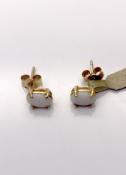 9ct Yellow Gold Opal Earrings