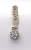 9 carat Yellow Gold Ball Pendant set with CZ stones