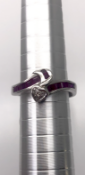 14 carat White Gold Ruby and Diamond twist Ring