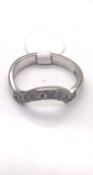 18 carat White Gold Diamond twist Ring