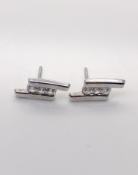 9 carat White Gold Earrings 0.6g