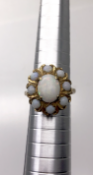 9 carat Yellow Gold Opal Cluster Ring