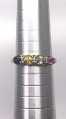 9ct Yellow Gold Precious Stones Ring