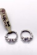 9 carat White Gold Earrings set with CZ stones