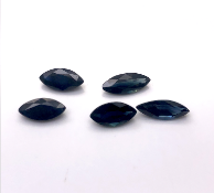 5 Pointed Oval Sapphires each 0.50 carat