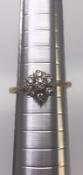 18 carat Yellow Gold 0.30 carat Diamond Cluster Ring