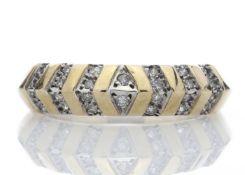 9ct Half Eternity Fancy Diamond Ring 0.21 Carats - Valued by AGI £1,299.00 - 9ct Half Eternity Fancy