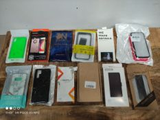 1 LOT TO CONTAIN 12 ASSORTED ITEMS TO INCLUDE PHONE CASES(IMAGE DEPICTS STOCK) (BAG 3)Condition