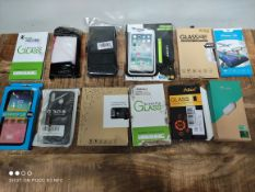 1 LOT TO CONTAIN 12 ASSORTED ITEMS TO INCLUDE PHONE CASES AND SCREEN PROTECTORS (IMAGE DEPICTS