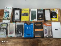1 LOT TO CONTAIN 14 ASSORTED ITEMS TO INCLUDE PHONE CASES AND SCREEN PROTECTORS (IMAGE DEPICTS