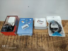 1 LOT TO CONTAIN 4 ASSORTED ITEMS TO INCLUDE MP4 PLAYE/SPEAKER AND MORE (IMAGE DEPICTS STOCK) (