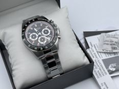BOXED ROTARY ROTARY GB036337/04 MENS STAINLESS STEEL WATCH, APPEARS BRAND NEW, REQUIRES BATTERY,