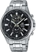 BOXED EDIFICE CASIO WR 100M, STAINLESS STEEL WATCH, APPEARS NEW, MODEL- EFR-304DY, RRP-£299.