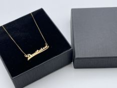 BOXED 9CT YELLOW GOLD ''DANILUISA'' IDENTITY NECKLACE, RRP-£165.00Condition ReportAppraisal