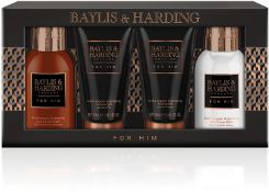 BOXED NEW BAYLIS AND HARDING GENTS GIFT SET, INCLUDES, 1X 50ML SHOWER GEL, 1X50ML FACE WASH, 1X