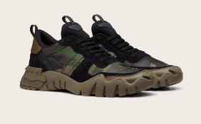 BRAND NEW VALENTINO CAMOUFLAGE ROCKRUNNER PLUS SNEAKER, SIZE-10 UK, RRP-£590.00