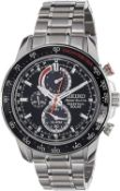 BOXED SEIKO SPORTURA PERPETUAL SOLAR GENTS WATCH, STAINLESS STEEL, RRP-£449.00, GOOD