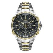 BOXED GENTS SEIKO COUTURA RADIO SYNC SOLAR BI TONE WATCH, STAINLESS STEEL, MODEL- SSG010, APPEARS