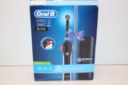 BOXED ORAL B PRO 2 POWERED BY BRAUN 2500 BLACK EDITION TOOTHBRUSH RRP £39.98Condition