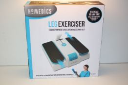 BOXED HOMEDICS LEG EXCERCISER MODEL: PSL-1000-GB RRP £65.00Condition ReportAppraisal Available on