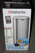 BOXED BRABANTIA 30L PEDAL BIN RRP £39.99Condition ReportAppraisal Available on Request- All Items