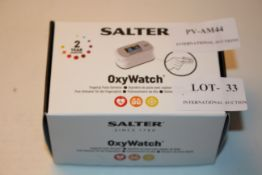 BOXED SALTER OXYWATCH FINGERTIP PULSE OXIMETER Condition ReportAppraisal Available on Request- All