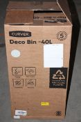 BOXED CURVER DECO BIN 40L RRP £34.99Condition ReportAppraisal Available on Request- All Items are