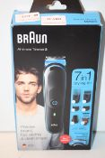 BOXED BRAUN ALL-IN-ONE TRIMMER 3 7-IN-1 STYLING KIT MGK3245 RRP £44.95Condition ReportAppraisal