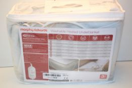 BAGGED MORPHY RICHARDS WASHABLE HEATED UNDER BLANKET RRP £29.99Condition ReportAppraisal Available