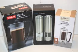 3X BOXED ASSORTED ITEMS TO INCLUDE BODUM, LATENT EPICURE & LE'XPRESSCondition ReportAppraisal