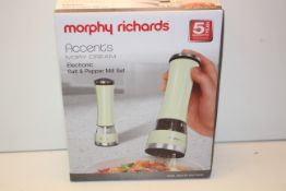 BOXED MORPHY RICHARDS ACCENTS IVORY CREAM ELECTRONIC SALT & PEPPER MILL SET RRP £29.99Condition
