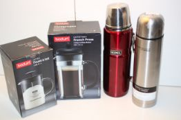 4X ASSORTED ITEMS TO INCLUDE 2X BOXED BODUM ITEMS & THERMOS FLASK RED & THERMOCAFE BY