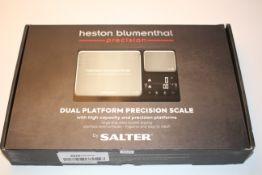 BOXED HESTON BLUEMENTHAL PRECISION DUAL PLATFORM PRECISION SCALE RRP £39.99Condition ReportAppraisal