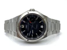 GENTS IWC STAINLESS STEEL FULLY AUTOMATIC WATCH, MODEL- IW500501, INCLUDES MANUAL AND CARD, NO