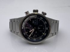 GENTS IWC STAINLESS STEEL WATCH, MODEL- IW3F1928, Aquatimer Chrono-Automatic Stainless Steel / Black