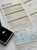 ***£11,385.00*** 18CT WHITE GOLD GIA CERTIFIED, PRINCESS CUT DIAMOND RING, DIAMOND WEIGHT- 1.