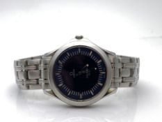 GENTS STAINLESS STEEL WITH 18CT YELLOW GOLD ON THE CLASP, OMEGA SEAMASTER, BLUE DIUAL, MODEL-