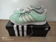 BOXED ADIDAS ESSENTIAL TRAINERS SIZE 4 RRP £42 (IMAGE DEPICTS STOCK)Condition ReportAppraisal
