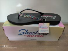 BOXED SKETCHERS JEWELLED FLIP FLOPS SIZE 7 RRP £25 (IMAGE DEPICTS STOCK)Condition ReportAppraisal