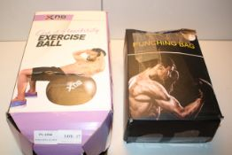 2X ASSORTED BOXED ITEMS TO INCLUDE XN8 SPORTS CORE & FLEXIBILITY EXERCISE BALL & PUNCHING BAG (IMAGE