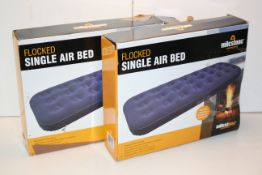 2X BOXED MILESTONE CAMPING FLOCKED SINGLE AIR BEDS RRP £30.00Condition ReportAppraisal Available