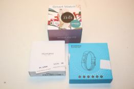 3X BOXED ASSORTED SMART WATCH ACTIVITY TRACKERS COMBINED RRP £78.00Condition ReportAppraisal