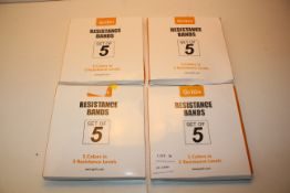 4X BOXED GRITIN SETS RESISTANCE BANDS SETS OF 5 COMBINED RRP £80.00Condition ReportAppraisal