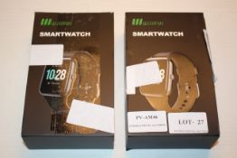 2X BOXED WILLFUI SMARTWATCHES COMNBINED RRP £70.00Condition ReportAppraisal Available on Request-