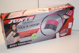 BOXED JUNTE HULA HOOP ITEM NO: H-1 RRP £24.99Condition ReportAppraisal Available on Request- All