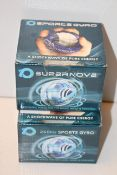 2X BOXED SUPERNOVA SPORTS GYRO - A DYNAMIC FORCE FOR THE HAND WRIST, FOREARM COMBINED RRP £24.