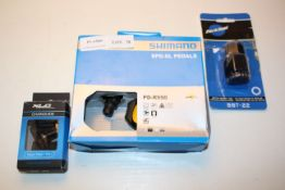 3X ASSORTED BOXED ITEMS TO INCLUDE SHIMANO SPD-SL PEDALS & OTHER (IMAGE DEPICTS STOCK)Condition