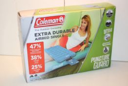 BOXED COLEMAN EXTRA DURABLE AIRBED SINGLE RRP £49.99Condition ReportAppraisal Available on