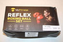 BOXED MCFITNESS REFLEX BOXING BALL SET Condition ReportAppraisal Available on Request- All Items are