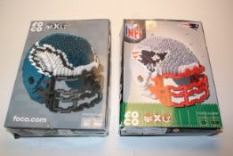 BOXED NFL BRXLZ AMERICAN FOOTBALL HELMETRS Condition ReportAppraisal Available on Request- All Items